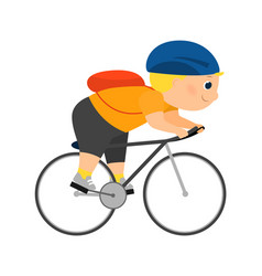 Enthusiastic cartoon cyclist vector