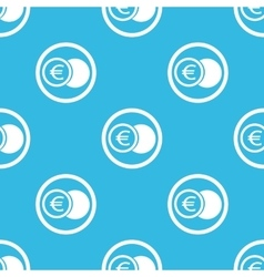 Euro coin sign blue pattern vector