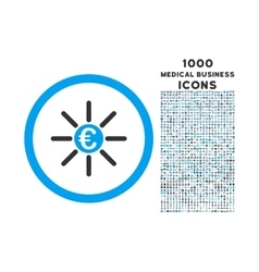 Euro Distribution Rounded Icon with 1000 Bonus vector image