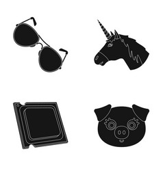 eyelashes police and other web icon in black vector image