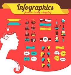 Fashion womens infographics vector