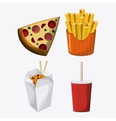 Fast food design menu icon Colorful vector