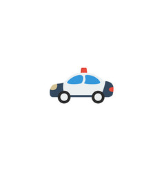 Flat icon cop car element of vector