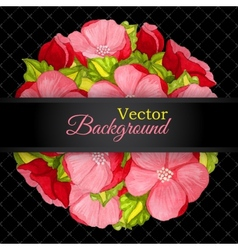 Floral invitation card with flowers peony template vector image