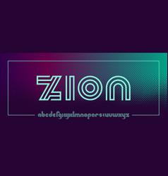 Futuristic line font in minimalistic style vector