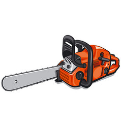 Gasoline chain saw vector