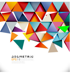 Geometric colorful triangle mosaic and separate vector