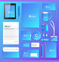 geometric graphic set of corporate identity vector image