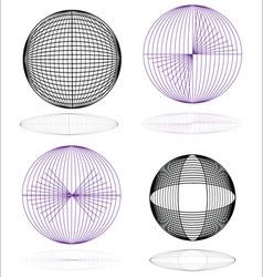 globe spheres vector image