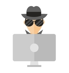 Hacker vector image