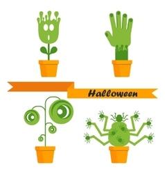 Helloween strange plants vector