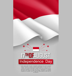 Indonesian independence day vertical flyer vector