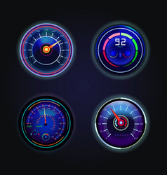 Isolated speedometers or gauges for speed vector