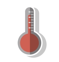 Isolated thermometer design vector image