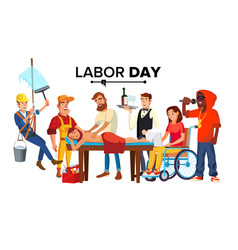 Labor day people occupation difference vector