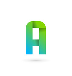 Letter a ribbon logo icon design template elements vector