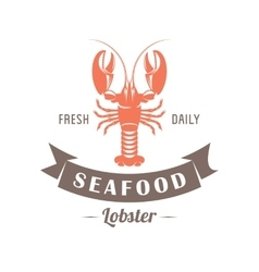 lobster emblem vector image