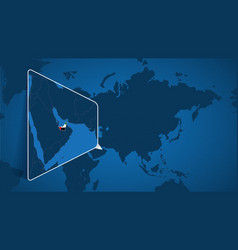 Location united arab emirates on world map vector
