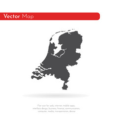 map netherlands isolated vector image