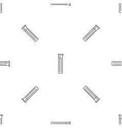 measurement test tube pattern seamless vector image