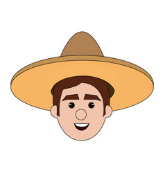 mexican man avatar character vector image