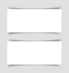 mok-up of two narrow horizontal flyers vector image