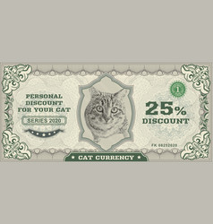 money banknotes fake money with tabcat vector image