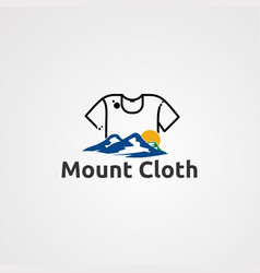 mount cloth logo icon element and template for vector image