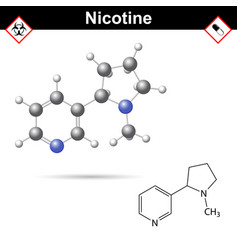 nicotine - natural alkaloid and tobacco component vector image
