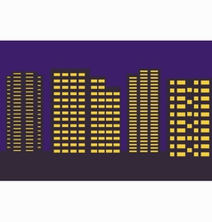 night city border vector image vector image