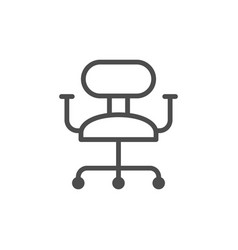 office chair line icon vector image