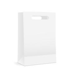 paper shopping bag mock up vector image