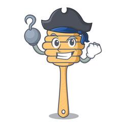 Pirate honey spoon character cartoon vector