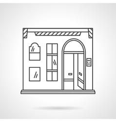 Pub facade flat line design icon vector