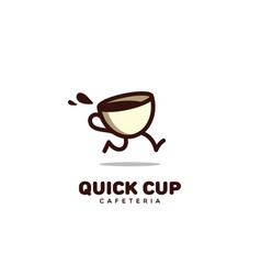 quick cup logo vector image