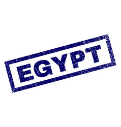 Rectangle grunge egypt stamp vector