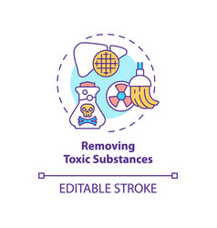 Removing toxic substances concept icon vector