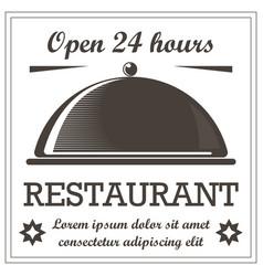 restaurant vintage style logo template vector image