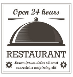 restaurant vintage style logo template with vector image