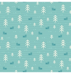 Seamless pattern of forest vector image