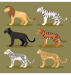 Set felines vector image