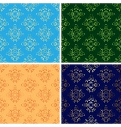 set of light and dark seamless vintage patterns vector image