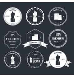 Set vintage retro mannequin shopping badges vector image