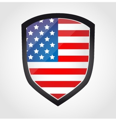 Shield with flag inside - United States vector