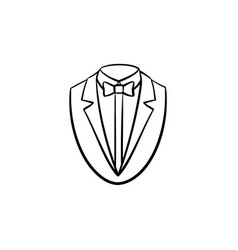 smoking suit hand drawn sketch icon vector image