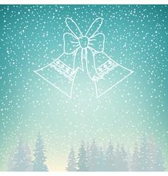 Snowfall and Holiday Jingle Bells vector