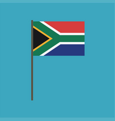 south africa flag icon in flat design vector image