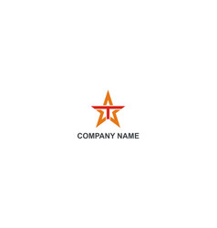 Star letter t abstract company logo vector