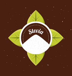 stevia natural sweetener organic label vector image