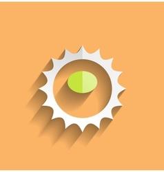 Sun icom modern flat design vector